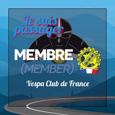 PASSAGER MEMBRE + Vespa Club de France
